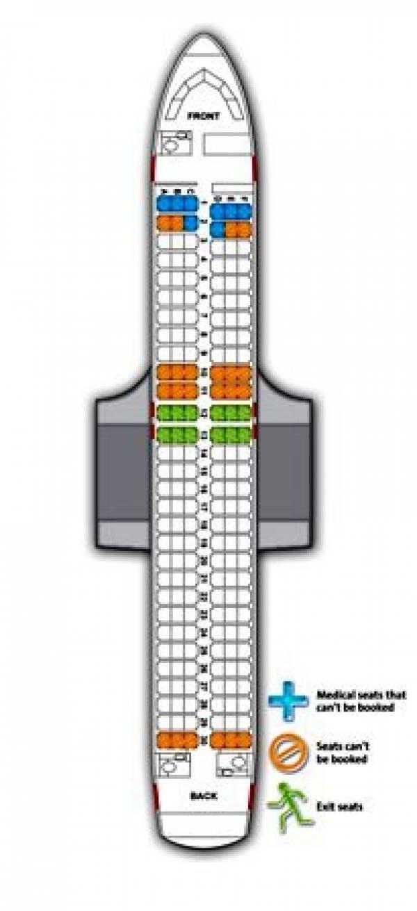 Airbus A320 Seating Plan