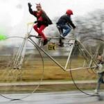 Viajar en bicicletas raras