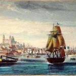 El primer barco a vapor en Montevideo