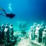 Arte submarino en Cancún
