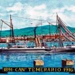 El torpedero Temerario en Montevideo 1894