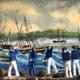 Vapor de guerra HMS Gordon varado en Montevideo
