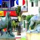 Dos leones franceses en Montevideo