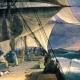 El capitan FitzRoy y su acompañante Charles Darwin