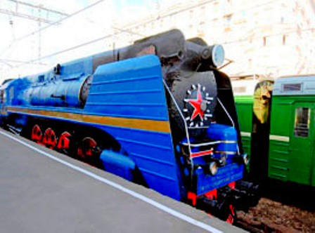 Prince Michael of Kent Launching the new GW travel train in Moscow