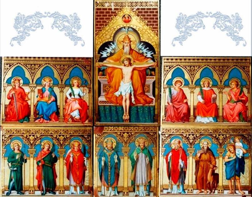 14 santos auxiliadores oracion para alejar enemigos y males y atraer lo bueno M