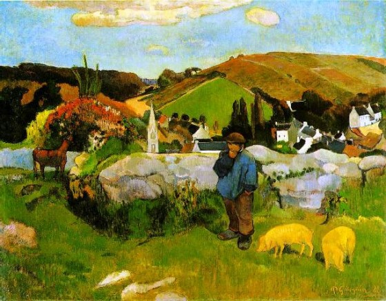 1888-PaulGauguin-The_Swineherd_Brittany