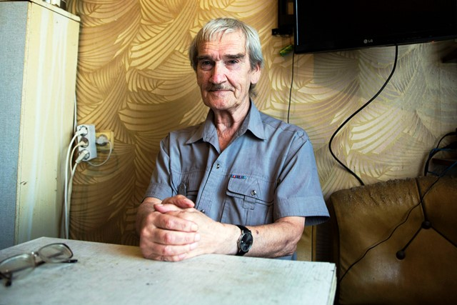 In this Thursday, Aug. 27, 2015 photo former Soviet missile defense forces officer Stanislav Petrov poses for a photo at his home in Fryazino, Moscow region, Russia. On Sept. 26, 1983, despite the data coming in from the Soviet Union?s early-warning satellites over the United States, Petrov, a Soviet military officer, decided to consider it a false alarm. If he had decided otherwise, the Soviet leadership could have responded by ordering a retaliatory nuclear strike on the United States. (AP Photo/Pavel Golovkin)