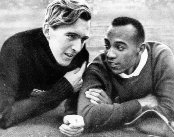1936, Jesse Owens speaks with Lutz Long at the 1936 Olympic games. (photo location: 102)
