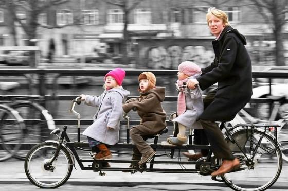 Amsterdam-bike-train