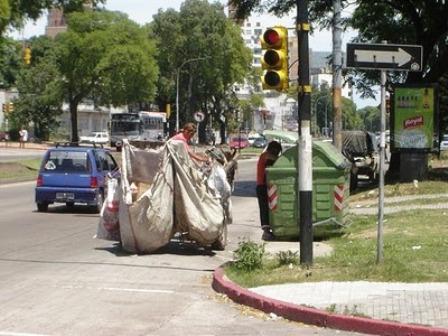 Clasificadores de basura en Montevideo