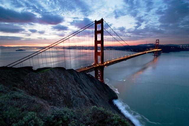 Fotografia del puente colgante golden gate de San Francisco