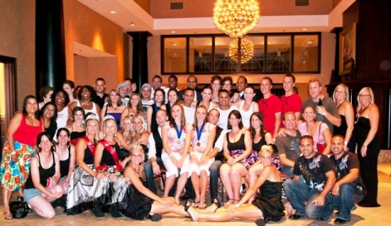 Group shot in the lobby after the ballroom closed