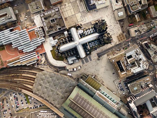 Kölner Dom Luftbild - cologne cathedral aerial