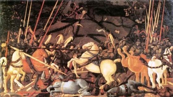 La batalla de San Romano-Uffizi
