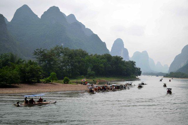 Navegando el río Li.