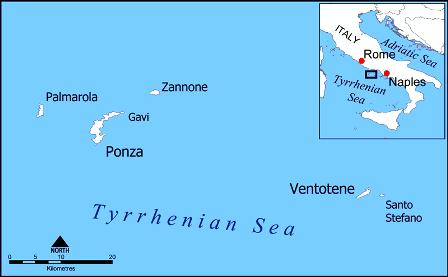 Pontine_Islands_map