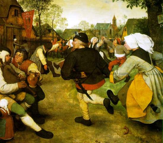 Fig 5. Pieter Bruegel, Peasant Dance, 1568, oil on panel, 114 x 164 cm, Vienna, Kunsthistorisches Museum (artwork in the public domain)