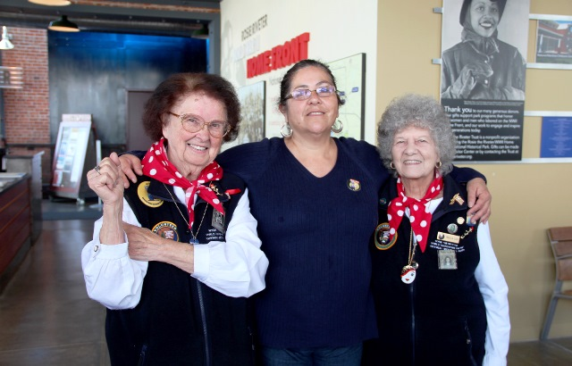 Rosies-Mary-Torres-91-left-and-Priscilla-Elder-95-right-with-Richmond-resident-Silvia-Ledezma