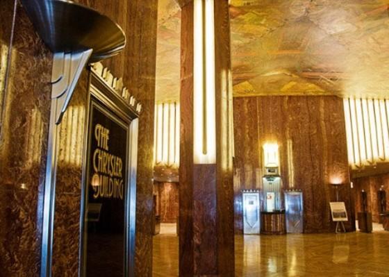 El edificio chrysler viajes for Chrysler building lobby mural