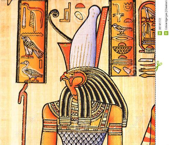 http://www.dreamstime.com/stock-photography-egyptian-god-horus-ancient-hand-painting-papyrus-image36741772