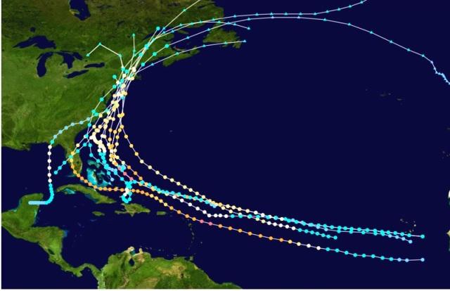 histórico de huracanes en nueva york