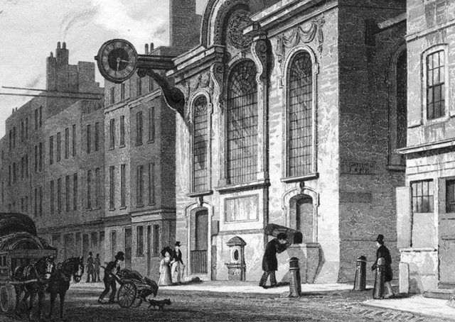 london-st-swithin-stone-cannon-street-old-print-c1830-37343-p