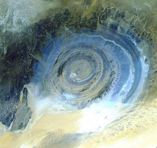 El Ojo del Sahara Ojo-de-africa-estructura-de-richat-azul