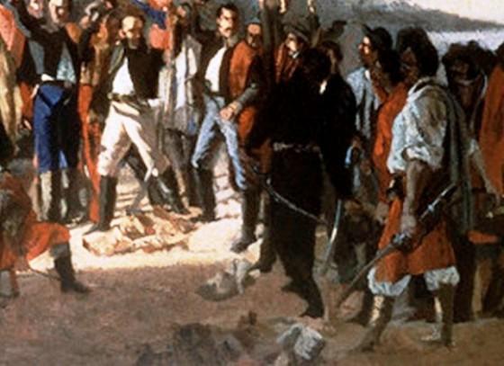 orz056483  BLANES JUAN MANUEL (1830-1901). JURAMENTO DE LOS TREINTA Y TRES ORIENTALES EL 19 DE ABRIL DE 1825 - PINTADO EN 1877 -  (Copiar)
