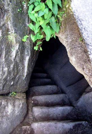 Stairway to Huayna Picchu top