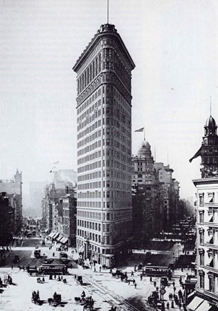 the flatriron building looking south october 1902