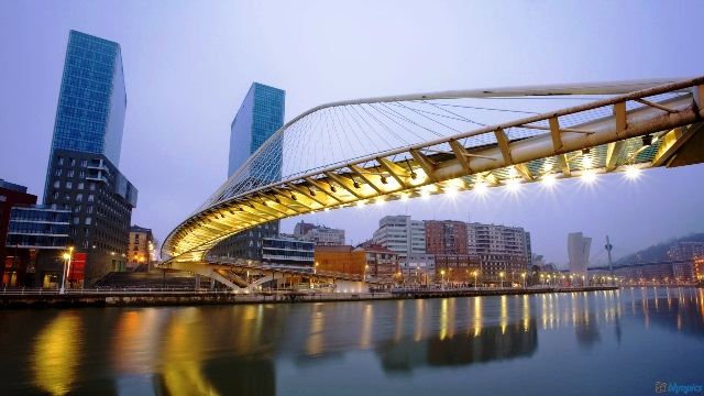 wallpapers-bilbao-spain-zubizuri-bridge-cityscapes